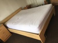 Ikea king size bed frame.