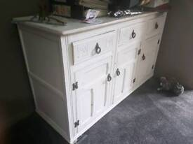 Shabby chic large cabinet drawer