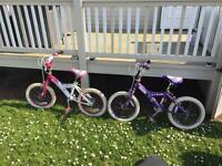 2 girls bikes for Sale.