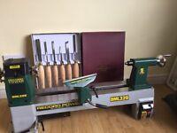 Wood turning Lathe and tools