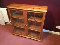 For sale Antique Pine Display Cabinet.