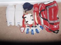 Cricket Bag and pads etc