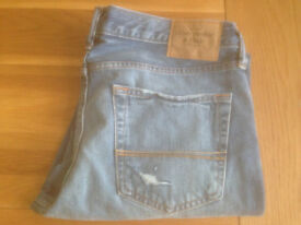 "Abercrombie & Fitch 'The A&F Slim Boot' Men's Bootcut Jeans (34""W x 32""L) (never worn) JUST REDUCED"