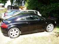 Audi TT 1.8t 225 breaking. 2002. Most parts available. Black Ly9b. Black leather seats.