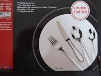 Top Quality 72 piece cutlery set in attractive presentation case, suitable as a wedding present