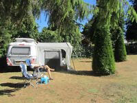 Soplair awning for Eriba Troll 430 caravan