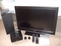 "Sony 32""lcd tv and surround sound system"