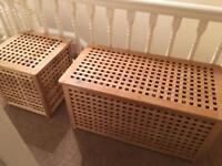 IKEA lattice storage chests