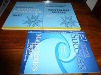 3 excellent condition GCSE Higher Maths Edexcel revision guides and workbook