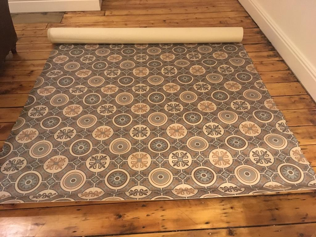 Vinyl Flooring Retro Victorian Tile Effect