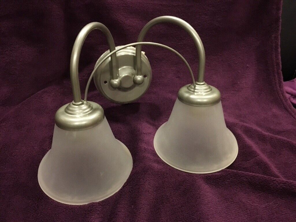 Silver Grey Wall Lights Glass Shades 4 Available