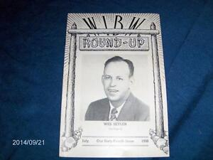 JULY 1950 ISSUE OF W.I.B.W. ROUND UP-RADIO STATION-SEYLER-KANSAS