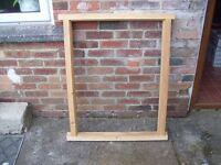 wood window frame unused 80c by 105c