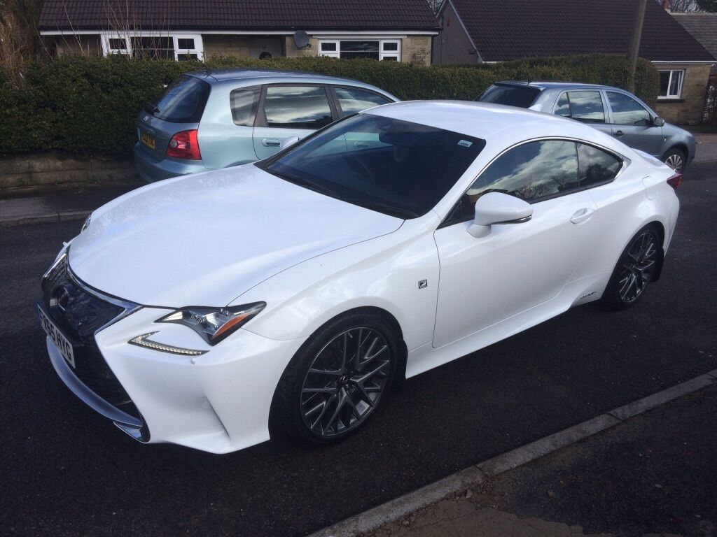 2015 65 lexus rc 300h f sport hybrid 2 5 petrol automatic cvt 2 door coupe in