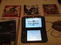'New' 3DS XL Version in metallic blue + games and charger