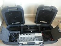 Great portable Peavey 150 Watt All-in-one PA (with wheels)