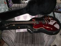 Epiphone 335 Dot Electric Guitar & Roland Micro Cube Amplifier + Tuner, Straps, Leads, Strings