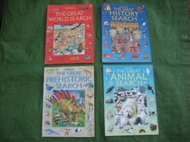 Four Usbourne Colour Great Search and Learn Books For Children - £2.00 each or 4 for £6.00