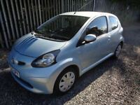TOYOTA AYGO 1.0 PETROL 2005 3 DOOR BLUE 80,000 MILES MOT 14/02/19 £20 ROAD TAX CHEAP TO RUN