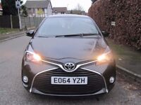 Toyota Yaris ICON VVTI-ICVT 1.33cc 5 Dr Metallic Black Automatic Air-Con, Reverse Camera,REC CAT C