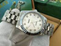 New Swiss Ladies Rolex Datejust Perpetual Automatic Watch, Silver Dial