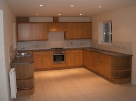 Kitchen units, oven, hob, dishwasher and extractor unit