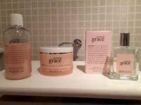 Amazing Grace perfume, body cream and bath showere gel