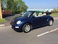 2004 Volkswagen Beetle 1.6 convertible with electric roof full years mot lady owner from 2006