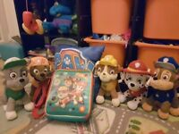 PAW PATROL Soft toys. Excellent Condition plus brand new lunch box and pillow foe Boy or Girl