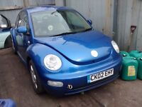 2002 Volkswagen Beetle 2.0 3dr blue AZJ EGT LA5W BREAKING FOR SPARES