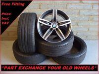 "2277 Genuine 17"" BMW 379 1 Series F20 2 3 Series Alloy Wheels & New Tyres"