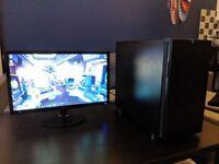 Powerful VR-ready Gaming PC w/ i7, GTX 1070, SSD, WiFi, & 1080p Samsung Monitor