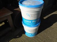 lime putty 2 tubs,one full, one nearly full