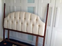 Cream upholstered Bed headboard free to good home!