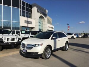2013 Lincoln MKX AWD, Navi, Sunroof, ONE OWNER, Clean Carproof