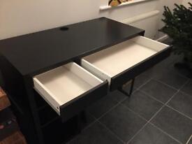 MICKE Ikea desk black-brown