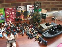 kids bits and pieces including army figures,books,boats etc