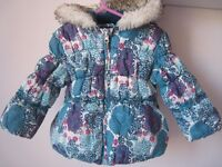 Girl toddler coat in excellent condition