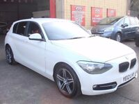 BMW 1 SERIES 2.0 118d Sport 5dr - FROST WHTE - ONE KEEPER - SERVICE HISTORY - HPI CLEAR - TOP SPEC