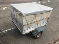 Erde trailer with high side and cover