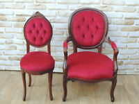 Vintage red chairs His and Hers Unique (Delivery)