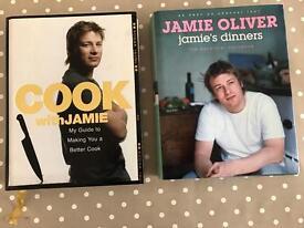 Jamie Oliver recipe books 'Cook with Jamie' & 'Jamie's Dinners'