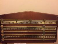 Snooker scoreboard, vintage antique. In good condition, ideal for games room, pub, man cave