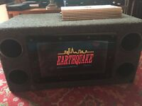 "Twin Subwoofer Bass Box 12"" with Amplifier"