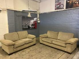 HARVEYS FABRIC SOFA SET IN NICE CONDITION 3+2 seater