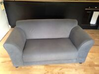 2 seater Argos fabric sofa. Ideal for first time buyers/rentals of those with conservatories