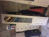 4 x mirrored wardrobe doors