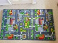 Children's car/town rug
