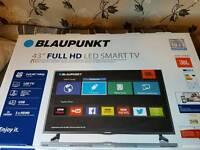"BRAND NEW UNOPENED BLAUPUNKT 43"" SMART FULL HD LED TV"