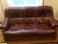 Maroon couch x2 and chair
